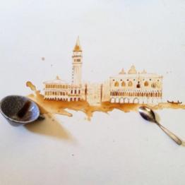 Velence 2 - Festmények kávéból - Giulia Bernardelli