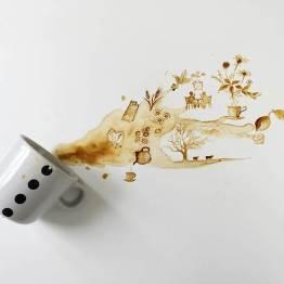 Kávészünet - Festmények kávéból - Giulia Bernardelli
