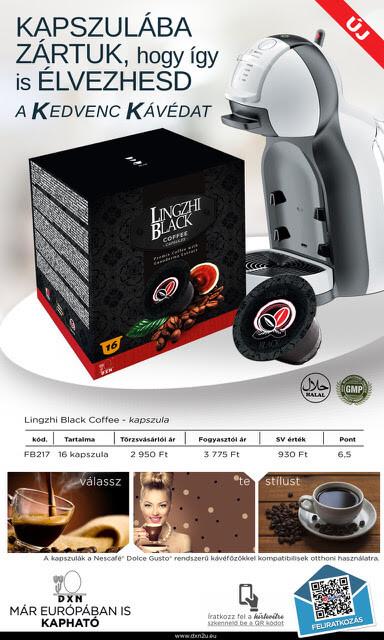 DXN Kapszulás Lingzhi Black Coffee