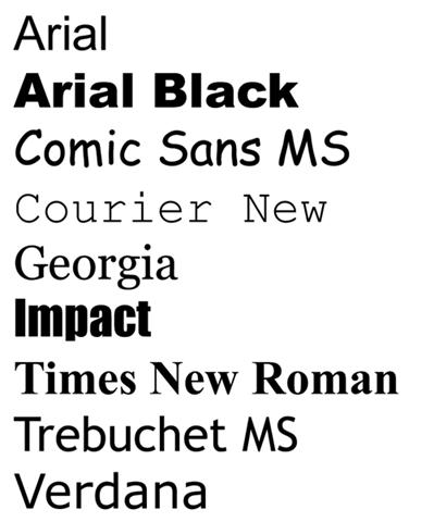 9 Web Safe Fonts