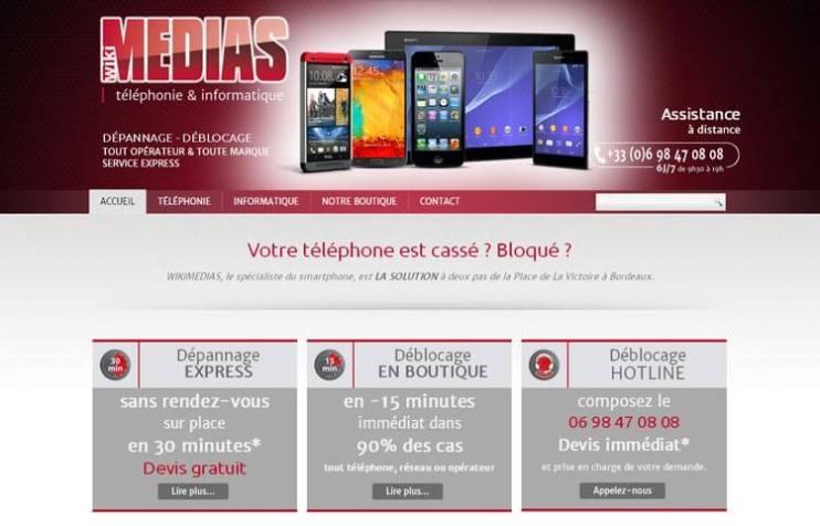 KAWA Synergy - Réalisation de site web Bordeaux - Réparation Téléphonie Mobile