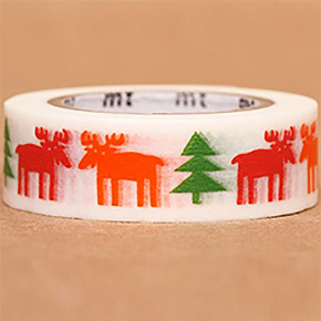 Moose and tree washi tape