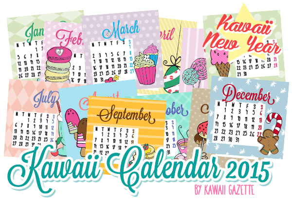 Kawaii Calendar 2015