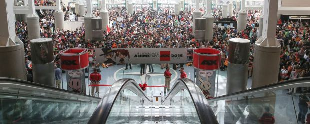"""The """"sea"""" of people.  Photo taken by Anime Expo Photography Team"""