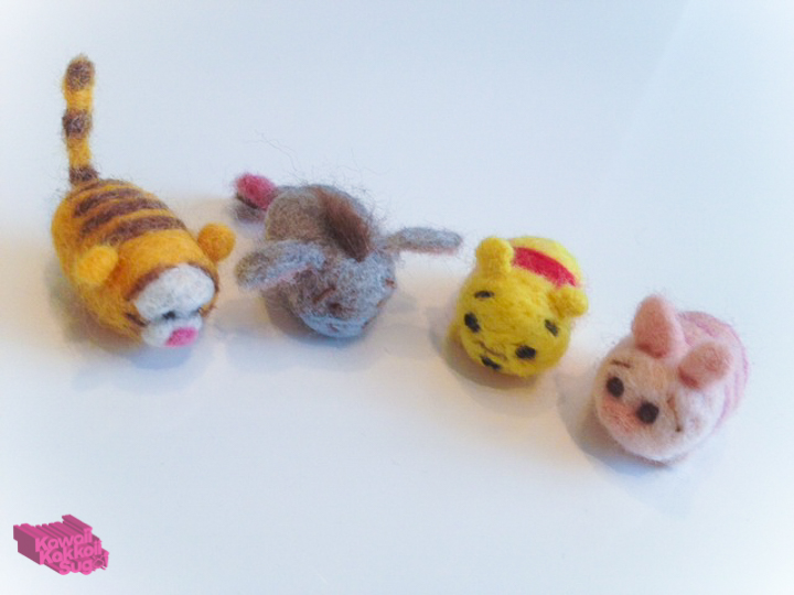Eeyore Disney Tsum Tsum Tigger Piglet Minnie Mouse: DIY Tsum Tsum Plushies (Needle Felting)