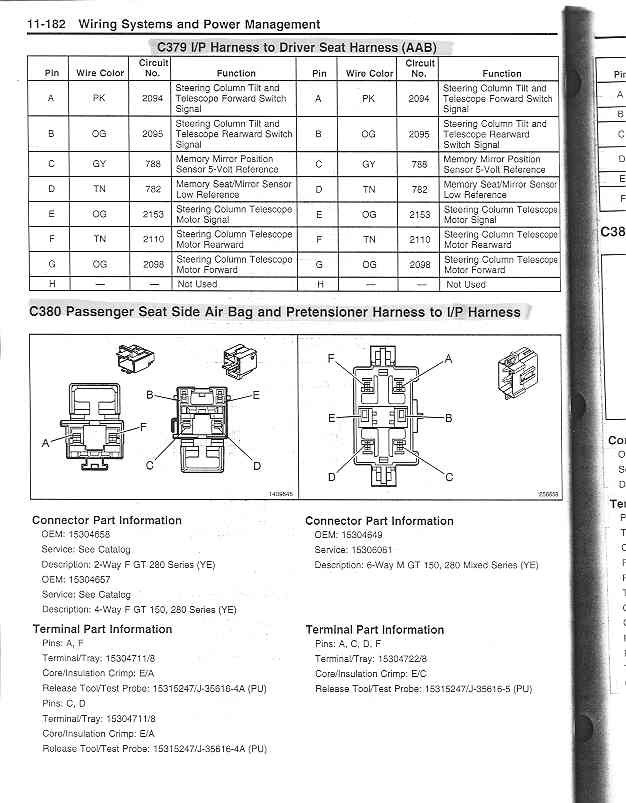 c5 corvette power seat wiring diagram 2009 pontiac vibe stereo z06 seats here are the schematic diagrams for memory module