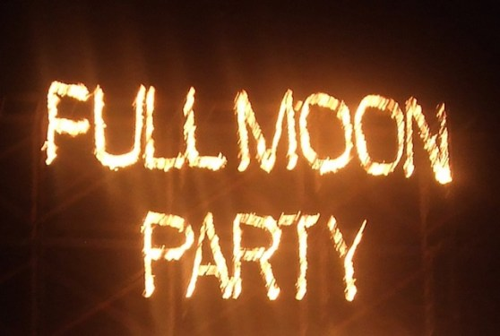 festa da lua cheia na Tailandia
