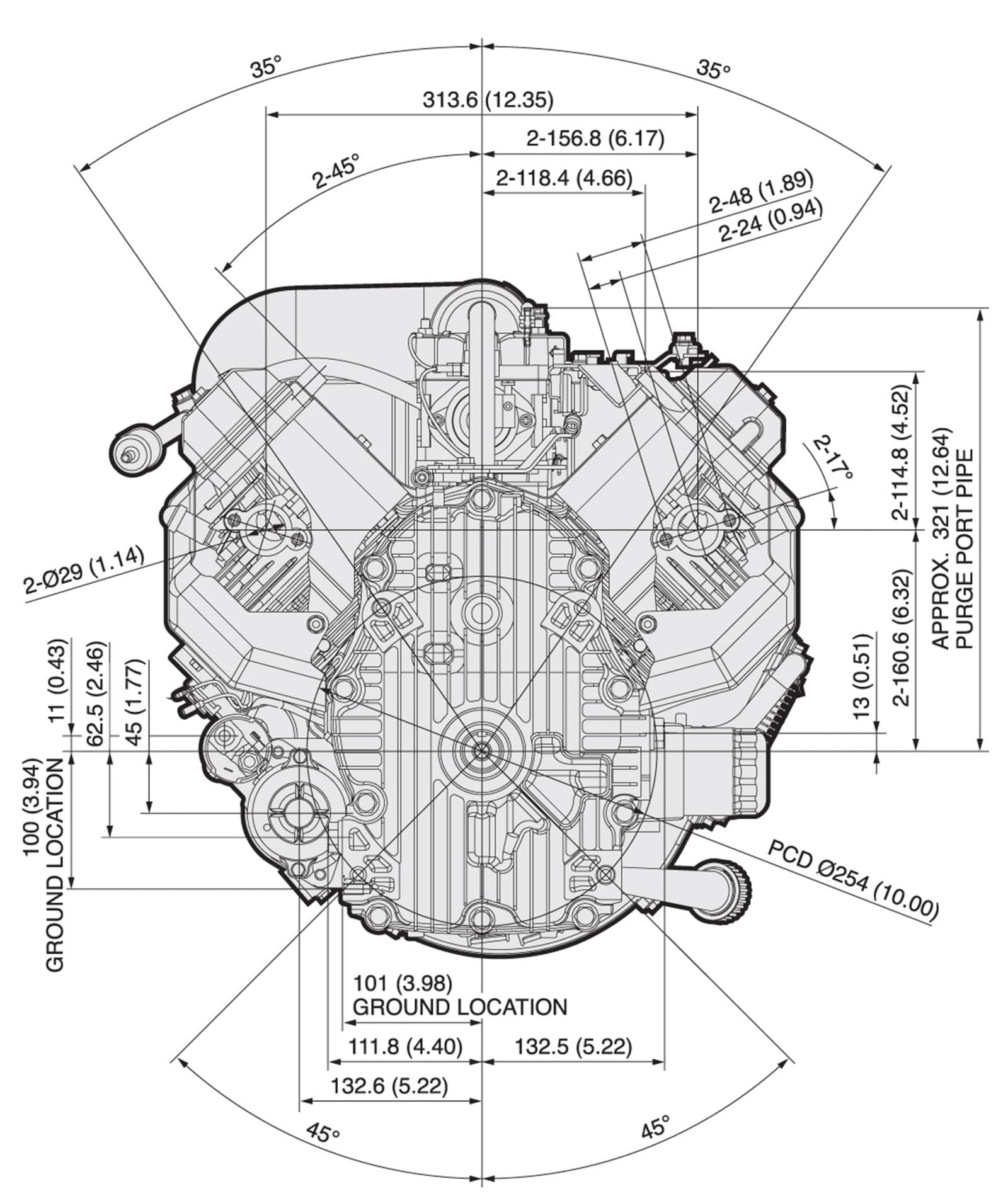 Kawasaki FX850V 27 HP Engine FX751V, FX801V Engines