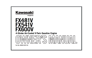 Quick reference guides for Kawasaki Engines