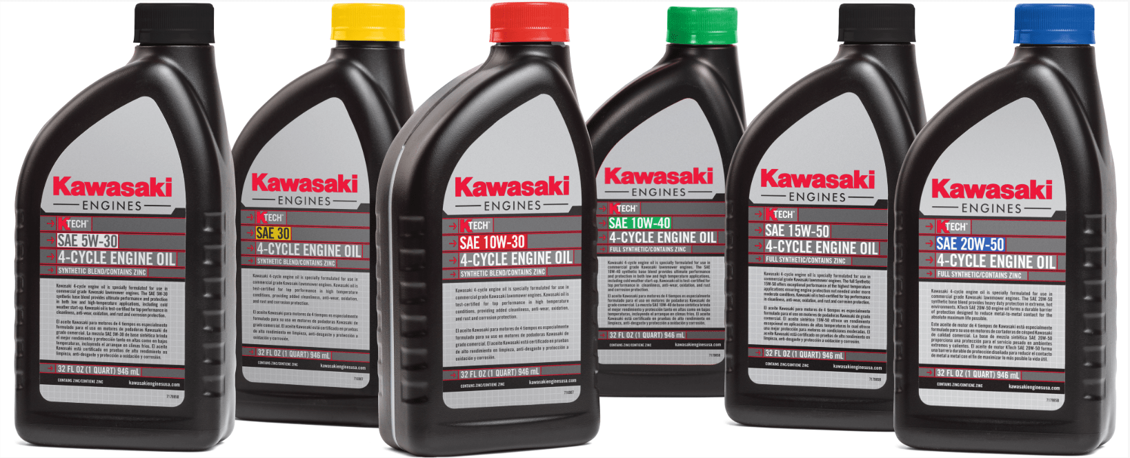 offered in 4 formulas with color coded caps and labels ktech engine oil is formulated to keep your kawasaki engine operating at its highest performance  [ 1638 x 664 Pixel ]