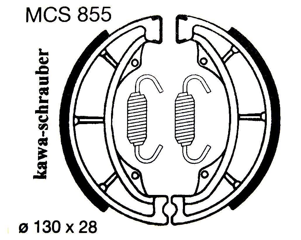 MCS855 Lucas Bremsbeläge vorne / hinten Suzuki RV125 (Bj