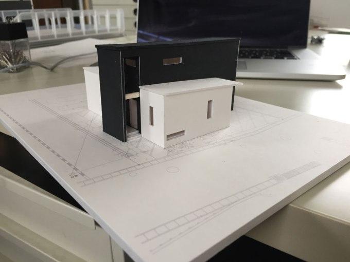 住宅のモデルの制作過程