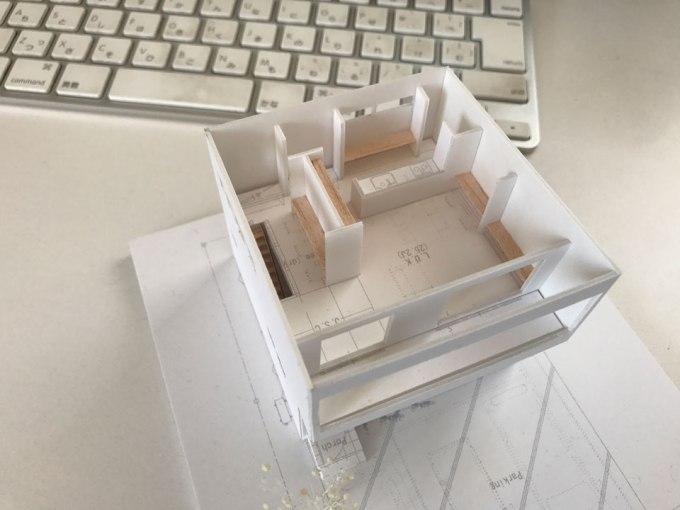 呉の住宅の模型