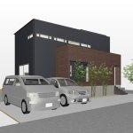 四差路の角地に建つ和室スペースと坪庭のある家