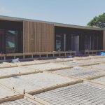 土間コンクリート型枠施工