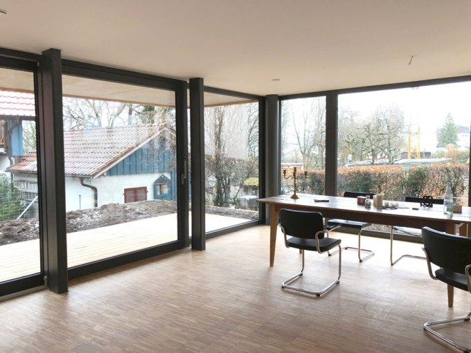 デザイン住宅室内からの借景