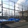 高松の家-建て方前の先行足場