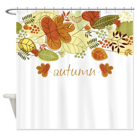 Autumn Leaves 4 A Shower Curtain KawelaMolokai Com