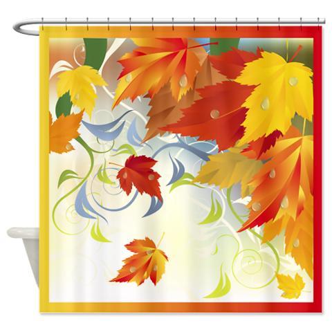 Autumn Leaves 5 Shower Curtain KawelaMolokai Com