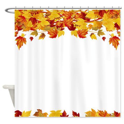 Autumn Leaves 6 Shower Curtain KawelaMolokai Com