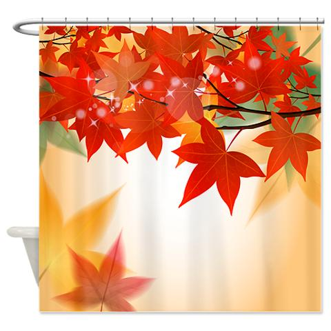 Autumn Leaves 8 Shower Curtain KawelaMolokai Com