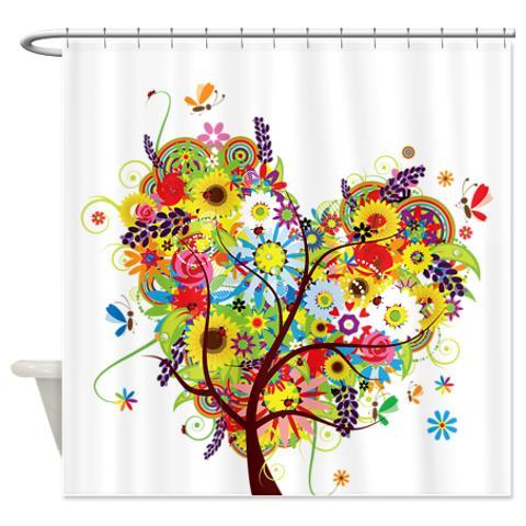 whimsical heart of flowers