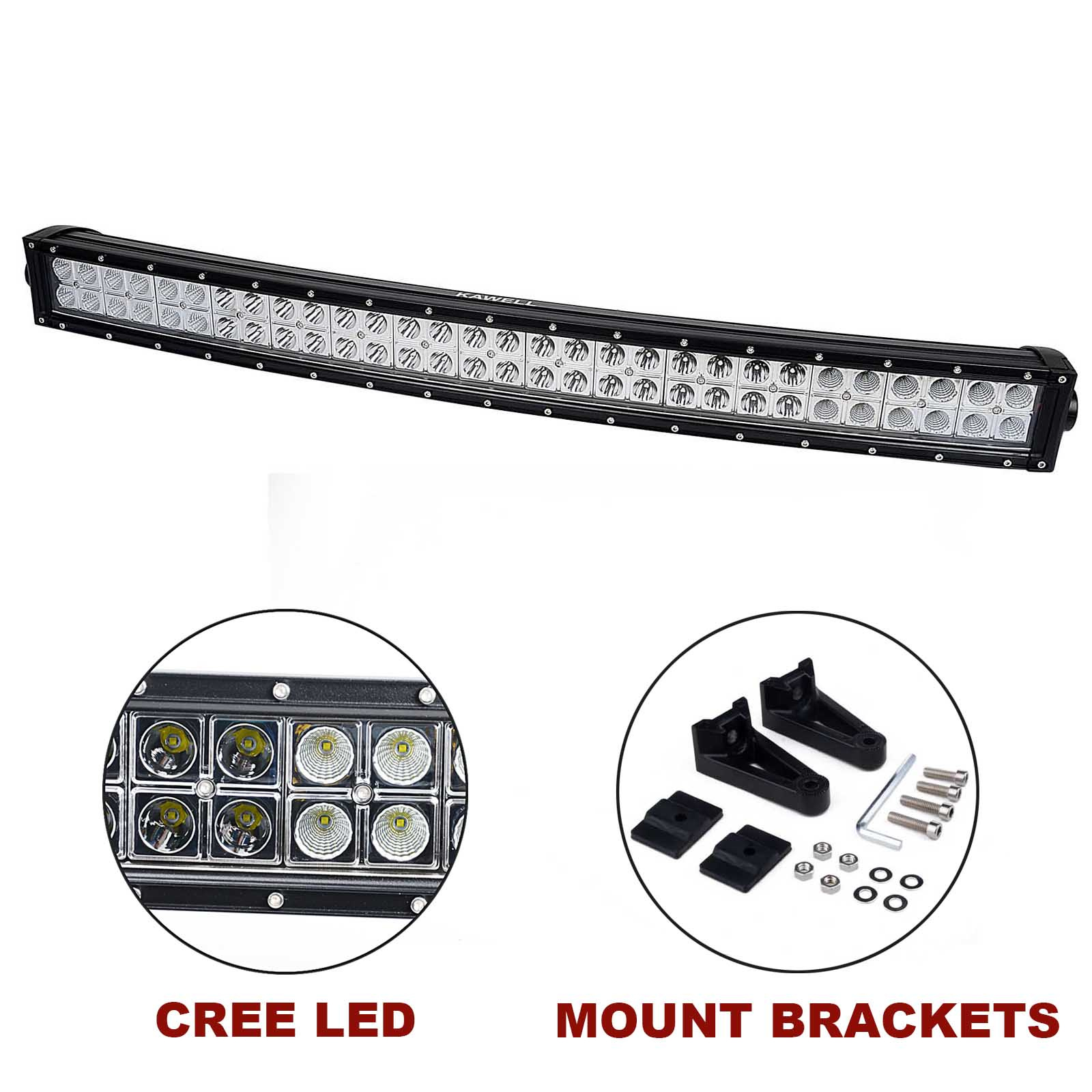 Kawell 32 180w Cree Curved Spot And Flood Combo Beam Led Light Bar Off Road Led Worklamp For