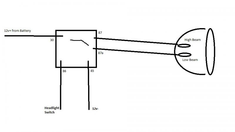 Low Beam Simple Headlight Wiring Diagram Collection