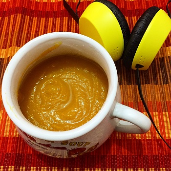 Celebrating The Pumpkin Day with Pumpkin and Carrot Soup.