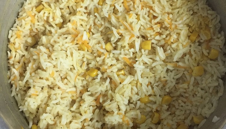Basic Dish Spiced Up: Inspired by the Plainness of Rice.