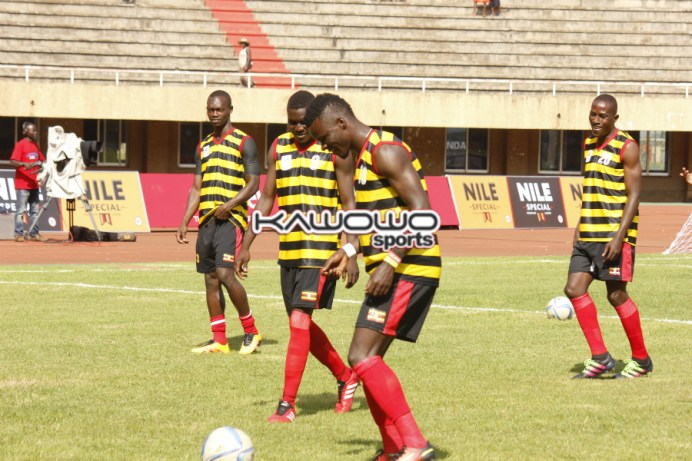 William Luwagga Kizito during Uganda Cranes warm-up prior to a game at Namboole. Such players require the best preparation ahead of the AFCON 2017 finals