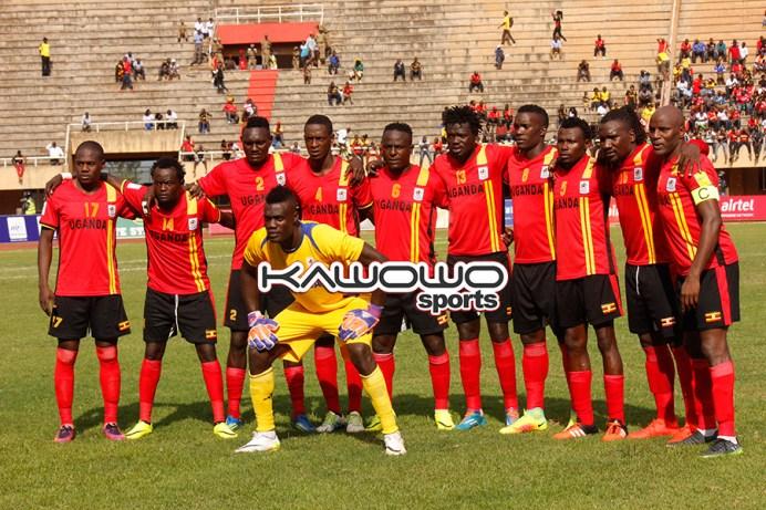 Uganda Cranes starting XI against Congo Brazzaville at Namboole
