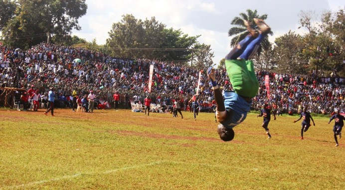 St Mary's SS Kitende eject Copa defending Champions Buddo, progress to finals #Uganda Kitende goalkeeper