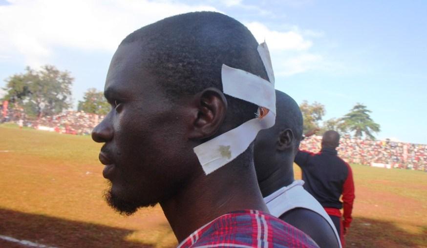 Tear Gas, Gun-shots mar Jinja SS' slim win over 10 man Standard High Zana #Uganda Wounded Fan