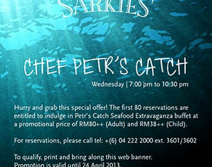 [INVITED REVIEW] Eastern & Oriental Hotel Sarkies - Chef Petr's Catch Seafood Buffet