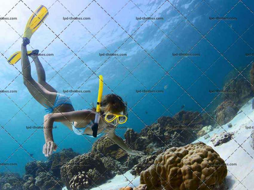 Young Lady Snorkeling