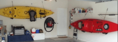 Garage Kayak Rack The 1 Way To Store Your Fishing Kayak