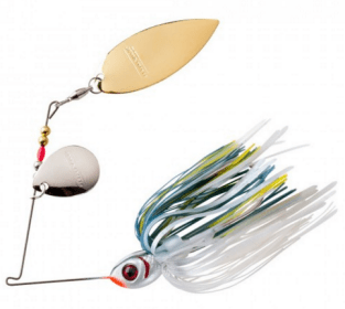 The Booyah Vibra-Flx spinnerbait is a great fall bass fishing lure.