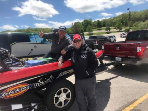 Eric Jackson and I at the FLW Will Fish for Kids Tournament on Beaver Lake.