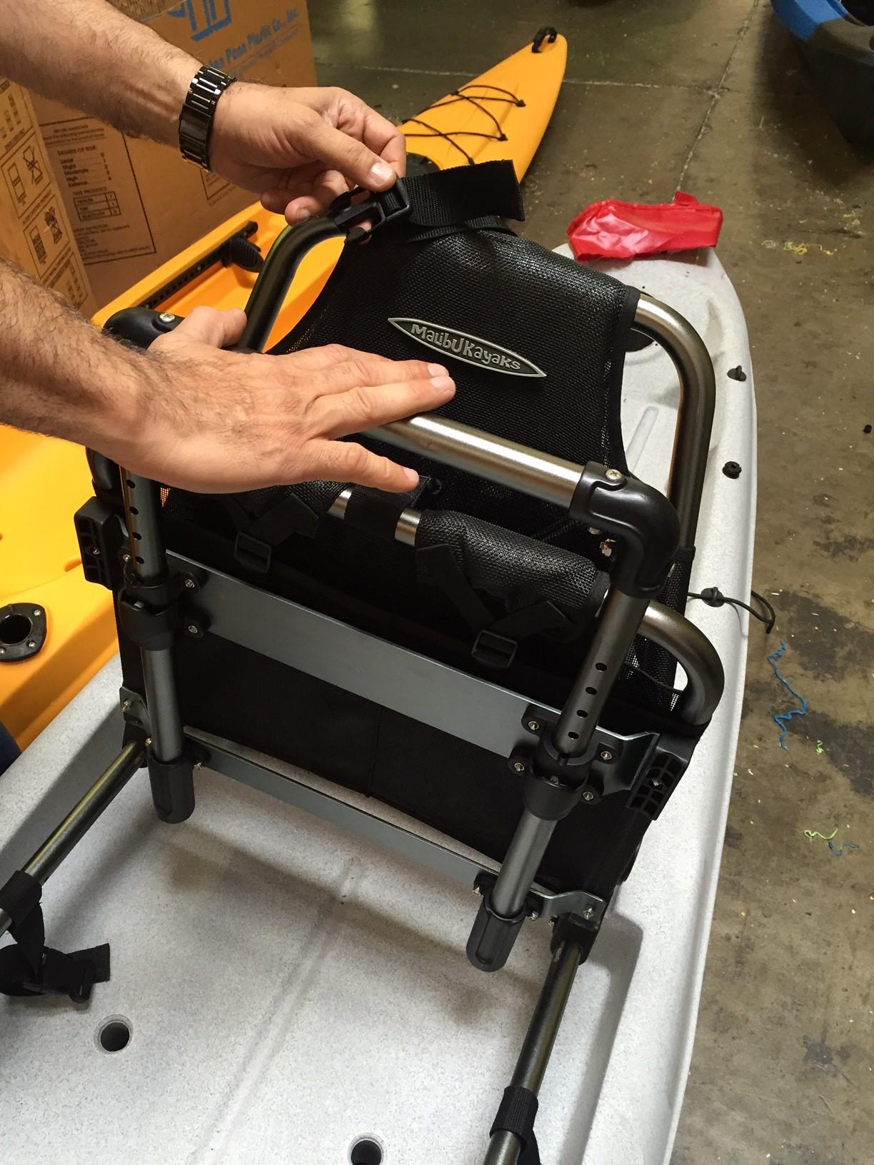 push back chair white leather club malibu kayaks x seat