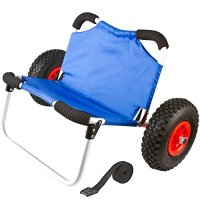 Hybrid Wide Hull Kayak & Canoe Dolly Cart with Seat