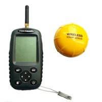 Venterior Portable Rechargeable Sonar Fish Finder Wireless Sensor Fishfinder Fishing Tool Depth Locator with Dot Matrix 40m Range