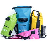 Waterproof Dry Bag for Boating, Kayaking, Fishing, Rafting,Camping,Canoeing & Snowboarding with Zipper Pocket & Water Bottle Pocket - Backpack & Shoulder Straps- Heavy Duty-Lightweight by Mava®