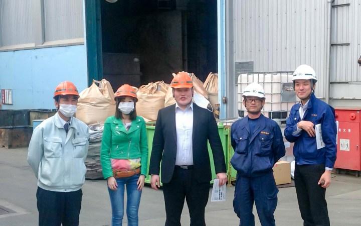 モンゴル行政関係者 豊川リサイクルプラント 視察