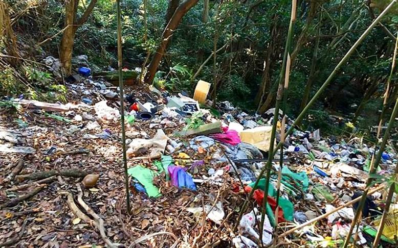 愛知県産業廃棄物協会 不法投棄 撤去作業 豊橋市西赤沢