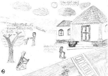 ラオス 環境授業 CSR活動 リサイクル