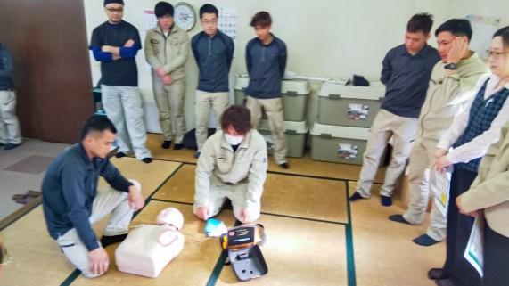 愛知県 AED実習 CSR活動 産業廃棄物処理