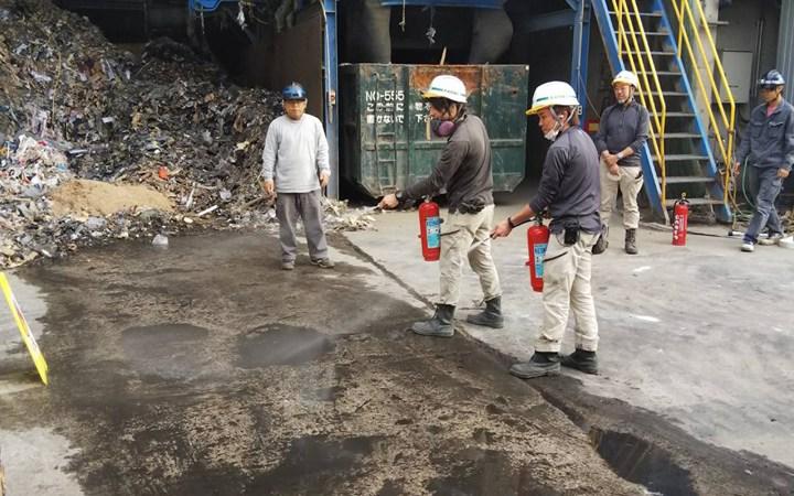 愛知県 豊川市 産業廃棄物処理 ゴミ処理 防火訓練