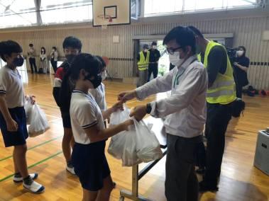 豊川市 千両小学校 防災訓練