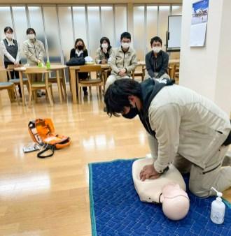 AED 救急救命 講習 CSR活動
